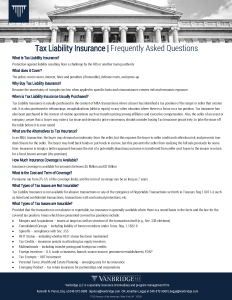 vanbridge-tax-liability-insurance-faq-v2018.5